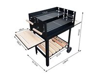 Charcoal BBQ Barbecue Grill 138x52.5x101cm