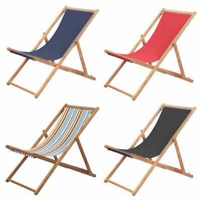 Fabric Outdoor Folding Chair - vidaXL Folding Beach Chair Fabric Wood Frame Outdoor Lounge Seat Multi Colors