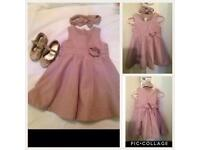 Dress (9-12 months) with Shoes (Size 5)
