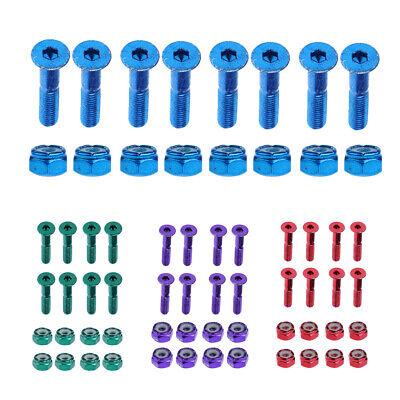 8 x Schrauben und Muttern für Skateboards , Schrauben Länge: ca. 2,54 cm ()