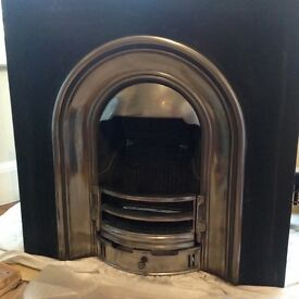 Cast Iron Fire place (Gallery Coronet make) plus Nu-Flame gas fire insert.