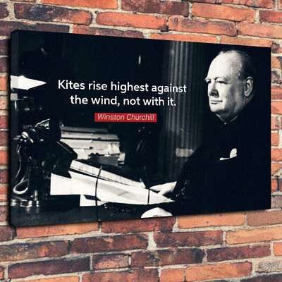 - Winston Churchill Quote Printed Canvas Picture A1.30