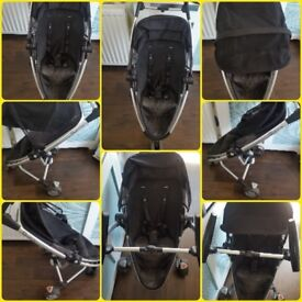 Quinny Zapp Extra - Removable Wide Seat, Full Hood, Front & Parent Facing. Car Seat Adapter for sale