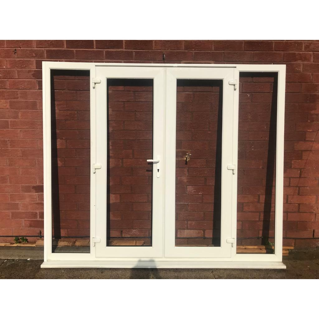 UPVC FRENCH DOORS AND SIDE PANELS