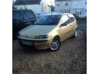 1.2 petrol manual fiat punto sporting with mot till august only done 73000 miles NO OFFERS
