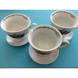 Hendricks Gin Tea Cup and Saucer