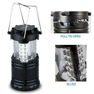Portable 30 LED Outdoor Camping Lantern Bivouac Hiking Night Fishing Light Lamp