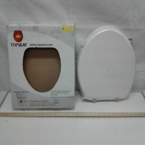 TopSeat TinyHiney Elongated Child and Adult 2 in 1 Regular Lid Closure Chrome Hinge Toilet Seat