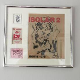 David Bowie isolate 2 1978?concert items framed