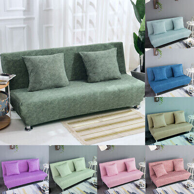 Armless Sofa Bed Covers Stretch Futon Slipcover Loveseat Protector Home Decor ()