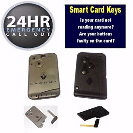 Renault Megane Grand Scenic Laguna Clio Replacment Programmed Key Card / Smart Keycard | Locksmith
