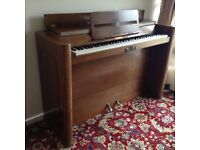 Upright piano. Eavestaff Minipiano. As used by Princess Ingrid of Sweden. Buyer to collect.