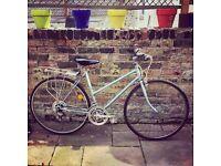 vintage ice blue Raleigh bike