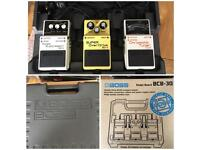 Boss guitar pedals and pedalboard