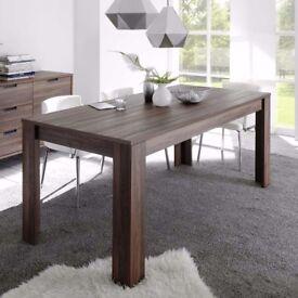 Contemporary walnut dining table
