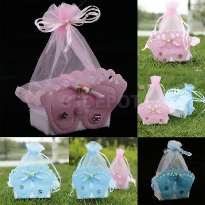 12pcs Baby Footprint Gift Box Girl Boy Baby Shower Birthday Candy Bags Favors](Boy Baby Shower Gift Bags)