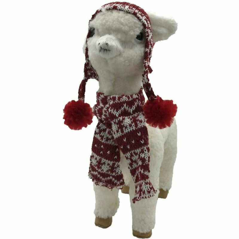 Bright Ideas Llama with Knit Cap and Matching Scarf Figurine