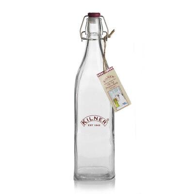 Kilner Clip Top Glass Preserve Storage Bottle Olive Oil Food Dressin 1 Litre