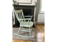 Painted pine rocking chair