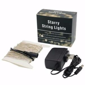 BOXING WEEK SALE - 100 LED Silver Wire Fairy String Lights w/AC Power Supply