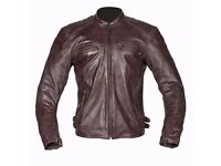 New Mens Leather Motorcycle Jacket - Spada Hedonista - Brown - Sizes 40-48