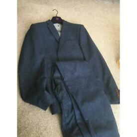 Men's blue speckled suit from next