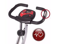 Ultrasport Foldable Exercise Bike with Pulse Sensor Grips 200-B/Very Good Condition