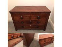 Elegant Large Chest Of Mahogany Drawers, Chic, Traditional Antique.