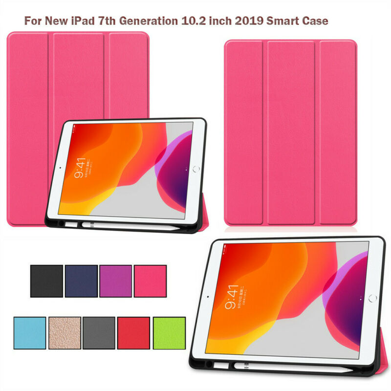 """For Apple iPad 7th Generation 10.2"""" Tablet Smart Case Stand"""