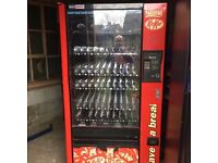 Refrigerated Coin Commercial Sweets & Drinks Dispenser + 1 Key - FREE LOCAL DELIVERY