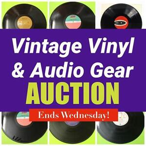 Vintage Vinyl, Audio Gear, Equipment and MORE! Classics, Contemporary, Movie Soundtracks! Ends Wednesday Night at 8PM!