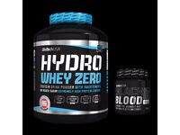 BioTechUSA - Zero Hydro Whey - 1816g + Black Blood Pre Workout