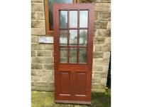 External double glazed wooden door