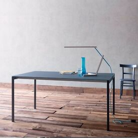 'Brave' Italian Grey Extending Glass Top Dining Table by Sedit