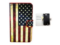 Synthetic Leather Card Wallet Cover Case Skin For Samsung Galaxy Note 2 II N7100
