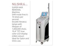 Professional virtually pain free Hair Removal machine