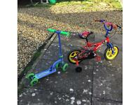 Bike and Scooter for child 3-5 Years.