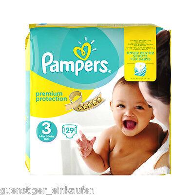Pampers Premium Protection Größe 3 Windeln 5-9 kg MIDI Diapers 29 Stück Schutz