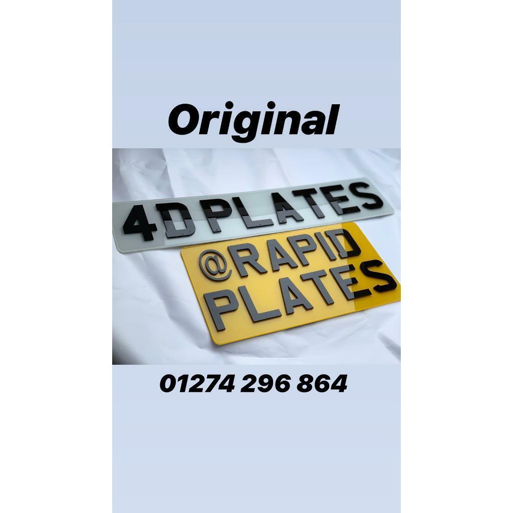 3D Gel & Original 4D Plates - Tinted - Number Plate Pioneers   in Bradford,  West Yorkshire   Gumtree