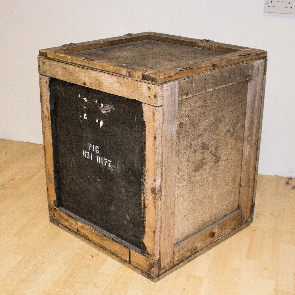 Beautiful Large Wooden Crate Shipping Crates Storage Boxes Cartons Antiques