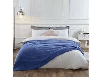 Dreamscene Luxury Popcorn Waffle Blanket Large Warm Fleece Throw Over Bed Travel