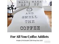 Coffee Addict Duvet Set