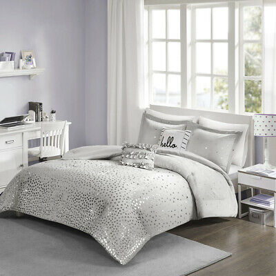 Intelligent Design Zoey Metallic Triangle Print Comforter Se