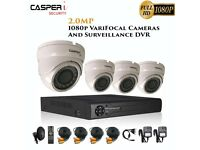 2MP VariFocal White Dome Cameras and 4CH DVR kit 1080p IR Weatherproof CCTV system with 1TB HDD