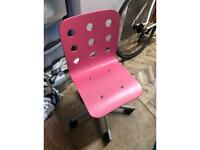 Pink Ikea Children's Desk Chair