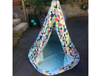 Habitat Canvas Wigwam for play indoors and when dry, outdoors