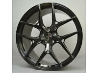 """20"""" Black Brushed AMS HF5 Forged Wheels for F80 M3 & F82 M4"""