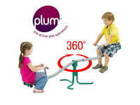 Plum Metal See Saw 360º Spins Seesaw Rotating Childrens Kids Outdoor Garden Play RRP £80