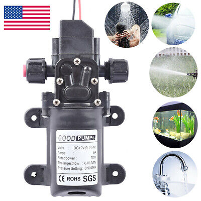12v Dc 130psi 6lmin Water High Pressure Diaphragm Self Priming Pump 70w Usa