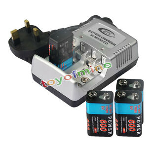4x 9v 9 volt 600mah power ni mh rechargeable battery pps block aa 9v charger uk ebay. Black Bedroom Furniture Sets. Home Design Ideas